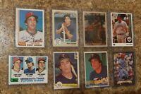 (8) Kent Hrbek 1982 Topps Donruss Rookie 1983 Fleer Card Lot RC Twins 1989 Upper