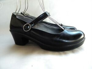 Alegria Harper HAR-011 Glossy Black Leather Mary Jane Buckle Comfort Size 40