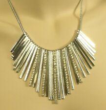 """Silver Collar Necklace 16"""" Chain w/ 3"""" Adjustable Extender Lobster Claw Fasten"""