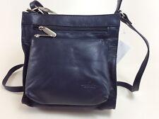 BEAR Design Handtasche Tasche Davita B3566 Echt Leder blau
