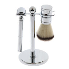 3pcs Shaving Brush Stand Holder Double Edge Safety Razor Set for Men Barber