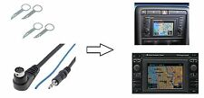 Entriegelungsbügel AUX Adapter JACK Stecker Klinke 3,5mm für Audi RNS-D VW MFD 1