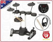Electronic Drumkit Digital Full Kit Headphones Drumsticks USB cord AUX input NEW