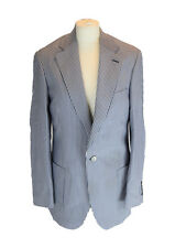 ERMENEGILDO ZEGNA Blue Striped Blazer, IT 48 UK / US 38 EU 44, Medium