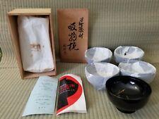 Vintage Japanese Echizen Lacquerware Soup Bowl Set (5)