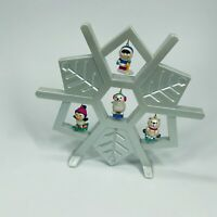 Wee Winter Friends Snowflake Display Stand Collectible Christmas Decor Avon (MM)