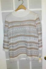 ALFRED DUNNER - PM - Eskimo Kiss Fringe Sweater-NWT-66
