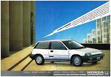 Publicité Advertising 1984 (2 pages ) Honda Civic