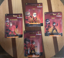 New listing The Incredibles Set Of 4 Mini Action Figures Collectible Disney Pixar