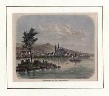 Geisenheim und der Johannisberg - Holzstich bei Spamer 1881