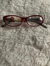 Lulu Guinness Red Eyeglass Frames 50-17-135