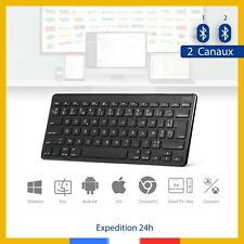 ZAGG clavier sans fil AZERTY double bluetooth ultra fin Windows Mac Android iOS