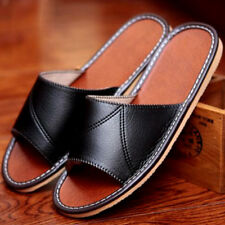 Men's Open Toe Slip On Indoor Home Slippers Soft Sandals Beach Vogue Shoes Chic