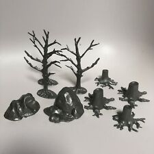 Marx reissue dead trees and stumps And Rocks. Various Playsets.