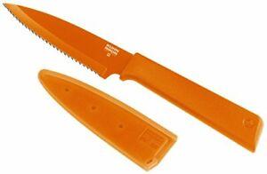 Kuhn Rikon Colori+ Serrated Paring Knife 4 inch , Orange