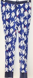 Hanna Andersson Womens Blue Yeti Print Pyjama Pants, Size S stretch organic GUC