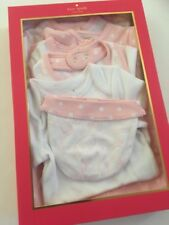 Kate Spade Baby Girl 7-Piece Layette Set Size 6 Months Polka Dot Pink Blanket