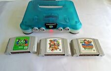 Nintendo 64 Clear Blue Console System NUS-001 Excellent+ From Japan # 2019