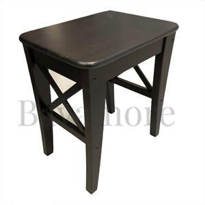 "IKEA INGOLF Stool, brown-black SOLID WOOD/pine 17 3/4x 15 3/4"" Kitchen/dining"