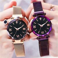 Women Crystal Stainless Steel Bangle Watches Ladies Cuff Bracelet Wristwatch