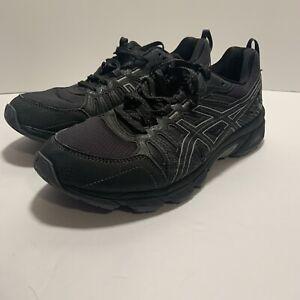 Asics Gel-Venture 7 Black Trail Running Shoes Men's Size 8 Extra Wide