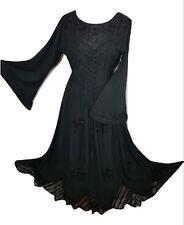 Corset Victorian Bell Sleeve Medieval Halloween Gothic Gown Dress M L XL 2XL 3XL