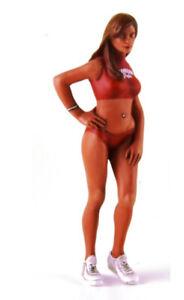 1:18 1970's Dorthy standing w/hand on hip Hawaiian Tropic Red Tank Top Figurine