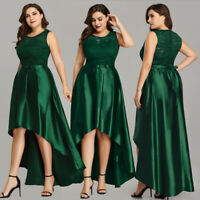 Ever-pretty US Long High-low Lace Cocktail Party Dress Formal Evening Prom Gown