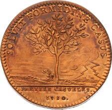 O4075 Jeton Louis XV Parties et Revenues casuels 1730 La foudre effroi SPL