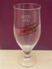 San Miguel half pint to line cervoise stemmed glass