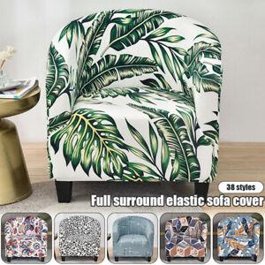 Elastic Spandex Bath Tub Arm Sofa Covers Printed Modern Slipcover Protector