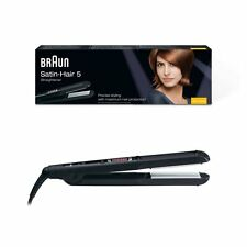 Braun Satin Hair 5st510 Hair Straightener patented flexible Bearing Ceramic Plate