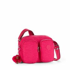 BNWT Kipling PATTI Small Across Body/Shoulder Bag CHERRY PINK C SPF 2017 RRP £74