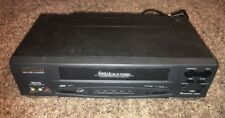 Sylvania SSV6001 VCR Video Cassette Recorder 4 Head As Is Read Description