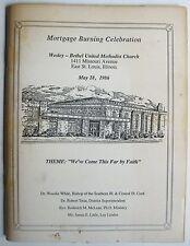 EAST ST LOUIS Wesley Bethel United Methodist Church Mortgage Burning Program '86