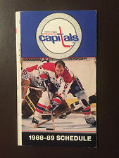 Washington Capitals 1983-84 Nhl pocket schedule