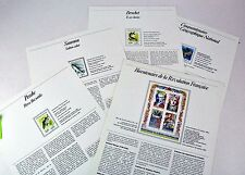FRANCE. Special Luxury philatelic pages dedicated stamps issued in France 1990.