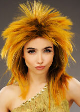 Womens 1980s Ginger Tina Turner Style Wig