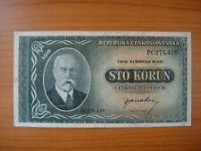 Banknote Tchécoslovaquie,Czechoslovakia, 100 korun