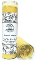 Crown of Success 7 Day Soy Spell Candle Prosperity Victory Wiccan Pagan Hoodoo