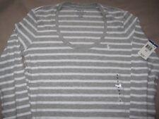 Ralph Lauren Polo largo guante gris blanco pelados Camiseta Damas S/P PVP 34.99 USD