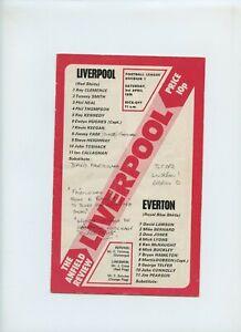 April 1976 Liverpool Reds Everton Blues Soccer Program
