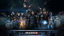 Mass Effect 3 POSTER FRAMED ON CANVAS & MOUNTED
