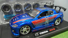 MAZDA RX-8 TUNING Bleu au 1/18 JADATOYS IMPORT RACER 63284 voiture miniature