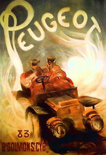 Art Poster - Peugeot Car - Deco Advert  A3 Print