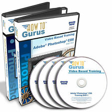 Adobe PHOTOSHOP CS6 Tutorial Training plus Photoshop Web Projects 28 hrs 4 DVDs