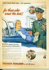 POST CARD OF OLD MAGAZINE ADVERTISEMENT TEXACO FOR THOSE WHO WANT THE BEST