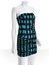 BCBG  GIGI BONING DASH ZIGZAG PRINT HOT STRAPLESS DRESS NWT $138 SZ 8