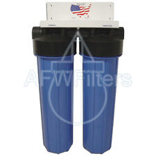 "New Big Blue Whole House sulfur filter Sediment Catalytic Carbon/Kdf85 4.5""x20"""