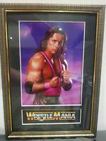 Bret Hart Hitman Mounted & Framed Retro Memorabilia Retro Wrestling